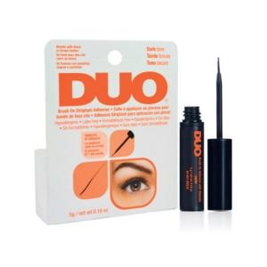 Клей для накладных ресниц с витаминами (с кистью, черный) Duo Brush On Dark Adhesive, 5гр.