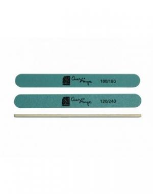 Пилка для ногтей CND Straight File, зелёная, абразивность 100/180
