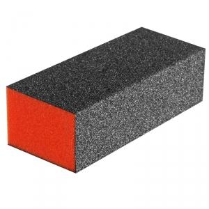 Баф для ногтей 3-х сторонний оранжевый, прямоугольник, 120/180/240