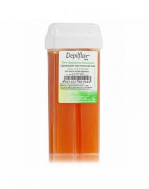 Тёплый воск в картридже Depilflax 100, облепиха, 110 гр