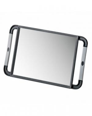 Зеркало переносное с прорезиненной ручкой Comair, чёрное, 21х29 см