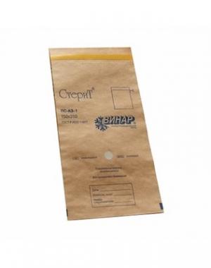 Крафт-пакет самоклеящийся Винар Стерит, коричневый, 75х150 мм, 100 шт
