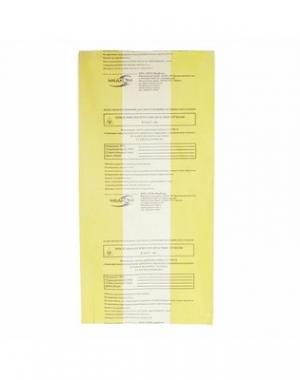 Пакет для медицинских отходов Винар, 500x600 мм, класс Б, жёлтый, 30 литров, 100 шт