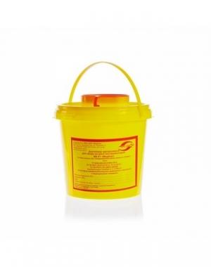 Емкость-контейнер одноразовая для сбора острого инструментария класса Б Еламед, 1000 мл