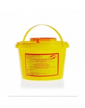 Емкость-контейнер одноразовая для сбора острого инструментария класса Б Еламед, 2000 мл
