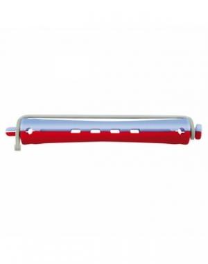 Бигуди для холодной завивки с круглой резинкой Comair, 95 мм, диаметр 11 мм, красно-голубые 12 шт