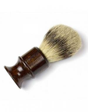 Кисточка для бритья из барсучьего волоса Mizuka Barbering, тёмно-коричневая