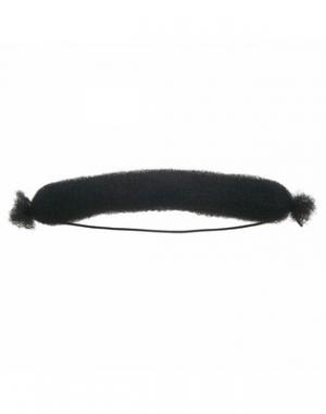 Валик для причёски Dewal, сетка с резинкой, черный, диаметр 21 см