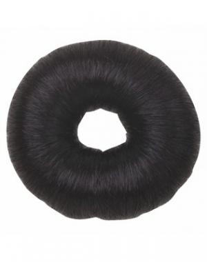 Валик для причёски Dewal, искусственный волос, черный, диаметр 8 см