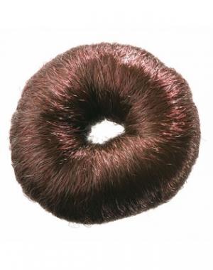 Валик для причёски Dewal, искусственный волос, коричневый, диаметр 8 см