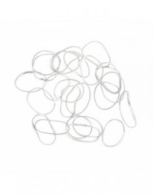 Силиконовые резинки для волос Dewal Mini, белые, 100 шт