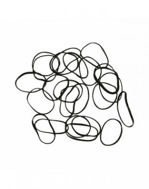 Силиконовые резинки для волос Dewal Mini, чёрные, 100 шт
