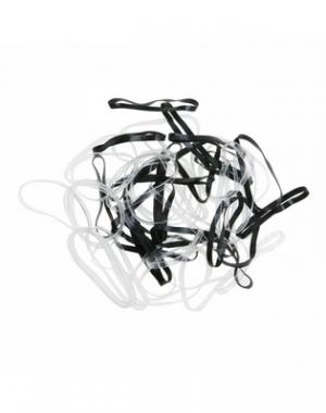 Силиконовые резинки для волос Dewal Midi, чёрно-белые, 50 шт