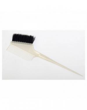 Узкая кисть для окрашивания волос с расчёской Dewal, белая, 55 мм