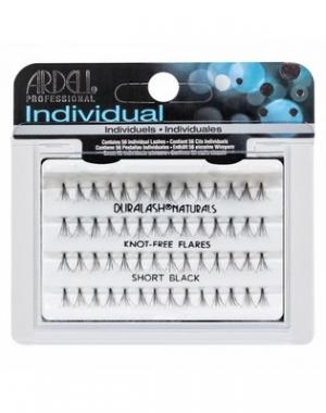 Пучки ресниц Ardell Duralash Naturals Knot-Free Flairs Short Black, безузелковые, короткие, чёрные