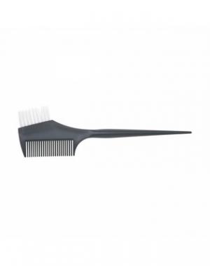 Узкая кисть для окрашивания волос с расчёской и прямой щетиной Dewal, чёрная, 45 мм