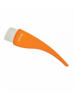 Широкая кисть для окрашивания волос с прямой щетиной Dewal, оранжевая, 50 мм