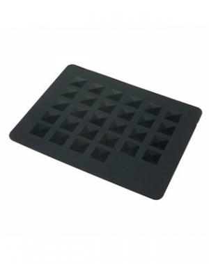 Силиконовый коврик под горячие инструменты Dewal, чёрный, 20x25 см