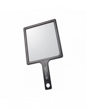 Зеркало переносное Dewal, пластик, чёрное, 21,5х23,5 см