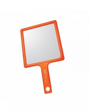 Зеркало переносное Dewal, пластик, оранжевое, 21,5х23,5 см