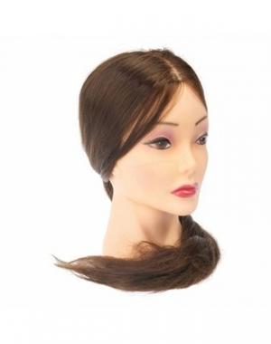 Муляж головы женский Dewal, 50-60 см, цвет волос - шатен