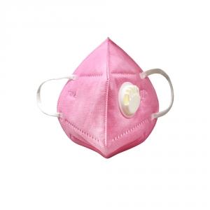 Маска 6-слойная с клапаном с угольным фильтром и клапаном выдоха розовая (1шт)