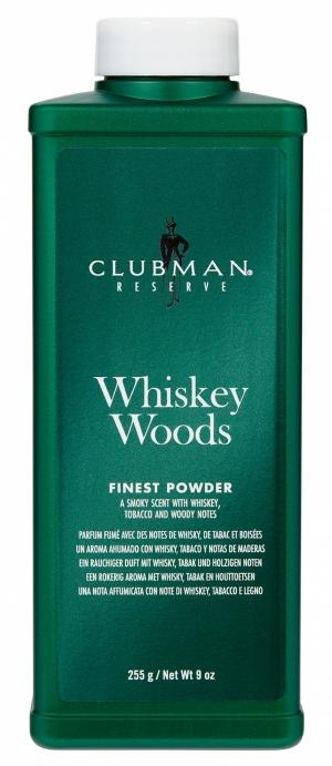 Тальк универсальный с запахом виски Clubman Whiskey Woods Powder, 255 гр