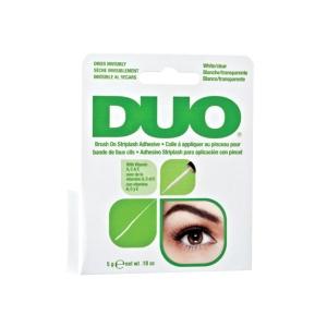 Клей для накладных ресниц с витаминами (с кистью, прозрачный) Duo Brush On Clear Adhesive, 5гр.