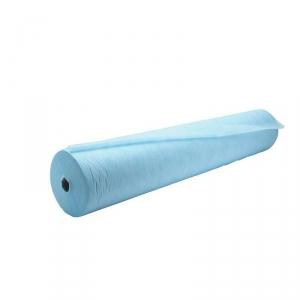 Простыня СМС (12 г/м2) 80см*200м. цвет голубой в рулоне с перфорацией (шаг 2 м), 100 шт