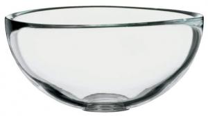 Миска, прозрачное стекло, высота 6 см, диаметр 12 см