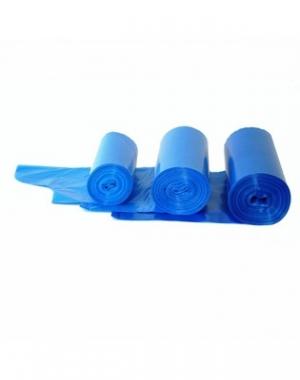 Пакеты для мусора с завязками, синие, 120 л, 10 шт