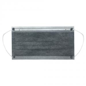 Маска 4-слойная защитная с угольным фильтром  (серая,  50шт/уп.)
