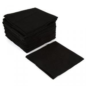 Салфетка 20х30см, гладкая, черная, 50г/м2, 100шт