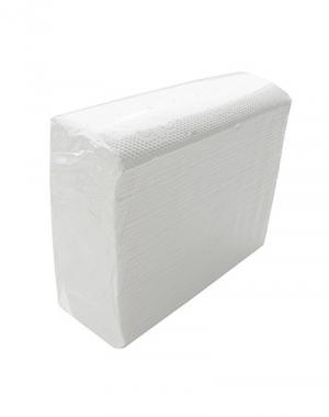 Полотенца бумажные белые в листах, двухслойные, 200 листов, 23х22 см, сложение Z