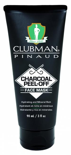 Очищающая черная маска для лица на основе угля Clubman Charcoal Peel-Off Face Mask, 90 мл