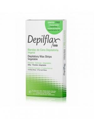 Комплект полосок для депиляции с воском Depilflax 100, 1 уп