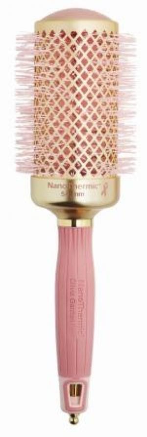 Термобрашинг для укладки волос керамический + ион NanoThermic 54мм розовое золото OLIVIA GARDEN