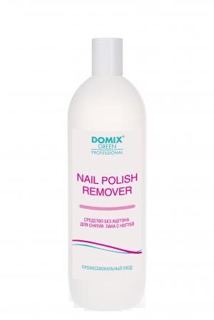 Средство для снятия лака без ацетона Domix Green Professional, Nail Polish Remover Non Acetone Formula, 1000 мл