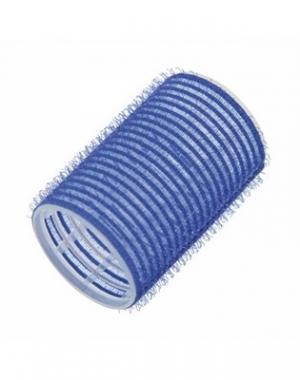 Бигуди-липучки Comair Jumbo, длина 60 мм, диаметр 40 мм, синие, 12 шт