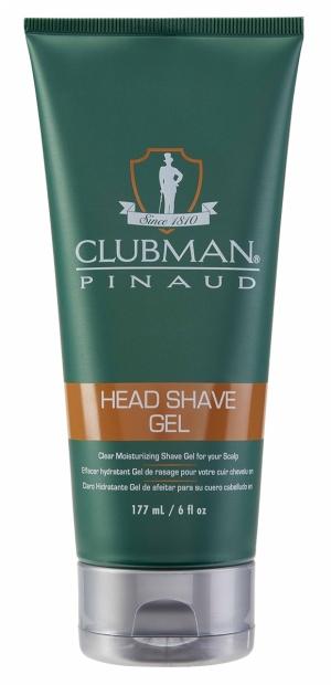 Увлажняющий гель для бритья (прозрачный) Clubman Head Shave Gel, 177 мл