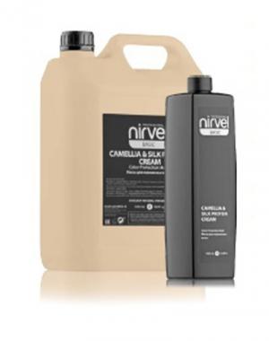 Маска для окрашенных волос NIRVEL Camellia&Silk Protein Cream, 1000мл NIRVEL