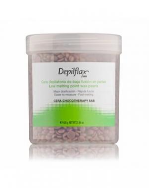 Горячий воск в гранулах Depilflax 100, шоколадный, 600 гр