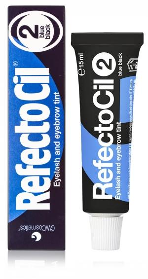 Краситель для окрашивания бровей и ресниц RefectoCil № 2, иссиня-чёрный, 15 мл