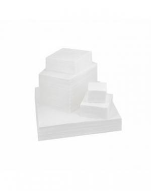 Салфетка вафельная IGRObeauty, белая, 50 г/м2, 15x15 см, 100 шт