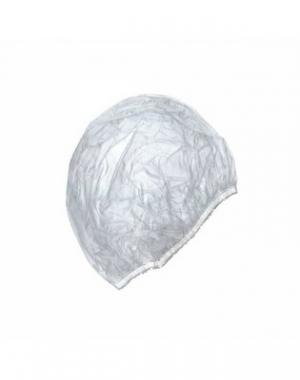 Одноразовая полиэтиленовая шапочка IGRObeauty, на резинке, 100 шт.