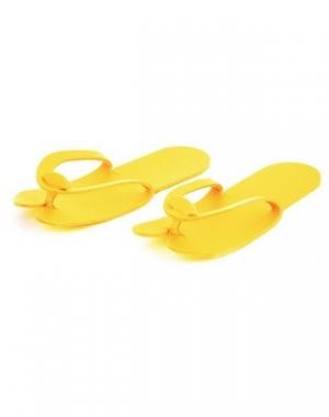 Тапочки вьетнамки IGRObeauty, НПЭ, жёлтые, 4 мм, 25 пар