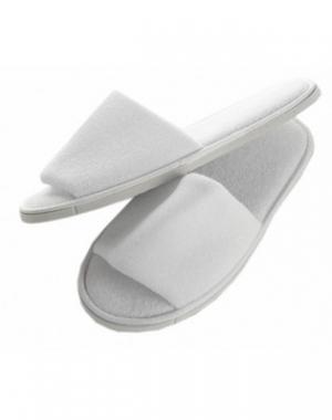 Тапочки махровые IGRObeauty Premium, не скользящие, размер универсальный, белые, 1 пара