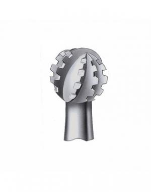 Круглый бор нержавеющая сталь Busch, форма 11RS, размер 012, 2 шт