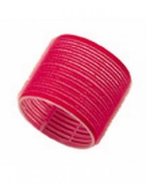 Бигуди-липучки Comair Jumbo, длина 60 мм, диаметр 70 мм, красные, 6 шт