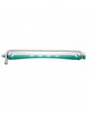 Бигуди для холодной завивки с круглой резинкой Comair, 70 мм, диаметр 6 мм, зелёно-белые 12 шт